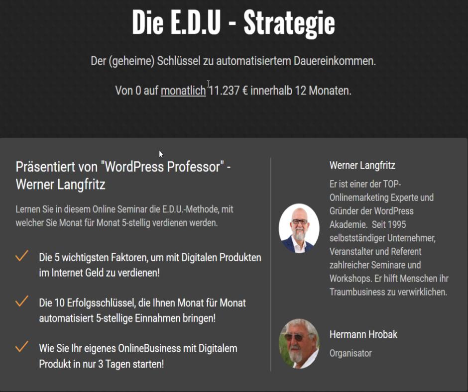 Webinar - Die E.D.U.-Strategie